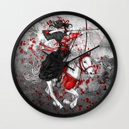 Horse and Rider - Yabusame Wall Clock
