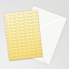 sunset-sky,light,twilight,dusk,gloaming,crepusculo Stationery Cards