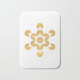 STAR TETRAHEDRON MERKABA sacred geometry Bath Mat
