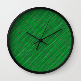 Wicker ornament of their green threads and blue intersecting fibers. Wall Clock