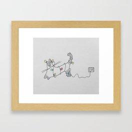 Siamese Light Show Framed Art Print