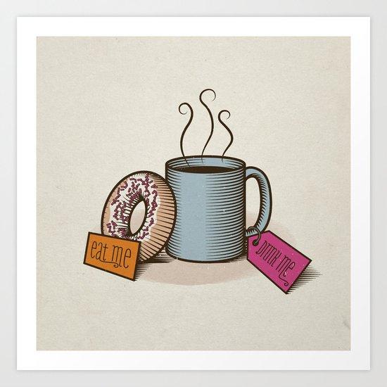 Breakfast in Wonderland Art Print