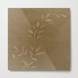 Sepia Vine Vintage Floral - Rustic - Hygge Metal Print