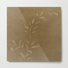 Sepia Vine Vintage Floral - Rustic - Hygge - Modern - Vintage - Farmhouse - Corbin Henry Metal Print