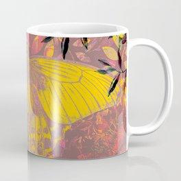 Mustard and Mauve Fairy Moth Coffee Mug