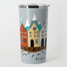 Norway Bergen Souvenir  Travel Mug