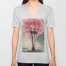 Sexy flower Unisex V-Neck