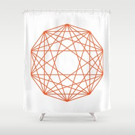Decagon Shower Curtain