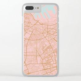 Casablanca map, Morocco Clear iPhone Case