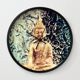 Earth Zen Buddha Wall Clock