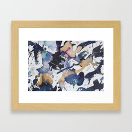 #1 Blue Framed Art Print
