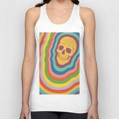Trippy Rainbow Skull Unisex Tank Top