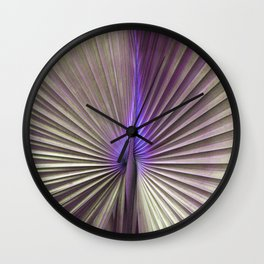 golden hearts of palm Wall Clock