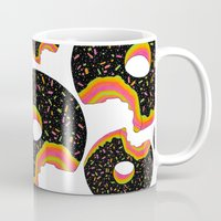donut Mugs featuring Donut by Luna Portnoi