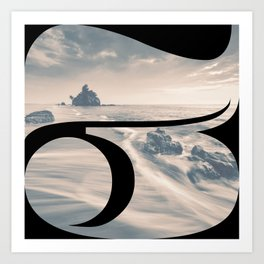 Nr. 3   Numbers with a View   Typography Letter Art Art Print