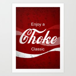 Enjoy A Choke,  Funny gift for Jiu Jitsu, Judo, Sambo, Grappling, MMA, BJJ Art Print