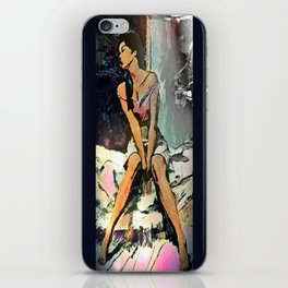 Facing Away From The Darkness iPhone Skin