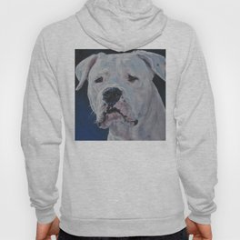 The Dogo Argentino dog art portrait from an original painting by L.A.Shepard Hoody