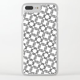 MUSIC GRID Clear iPhone Case
