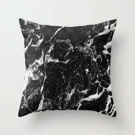 black white marble Throw Pillow