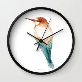 European bee-eater (Merops apiaster) - color Wall Clock