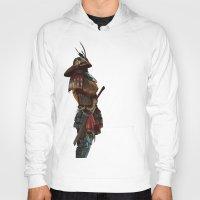samurai Hoodies featuring Samurai by Alba Palacio