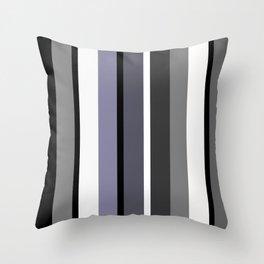 Grey stripes pattern Throw Pillow
