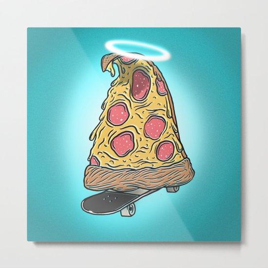 St. Pizza Shreds Metal Print