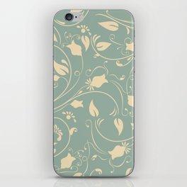 Vintage flower vine pattern iPhone Skin