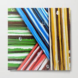 Striped Planes Metal Print