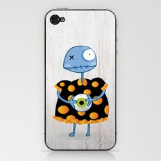 Little Lulu Unzicker with Her Favorite Pet Eye. iPhone & iPod Skin