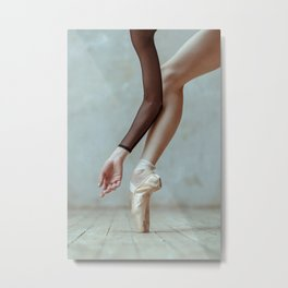 Ballet pointe. Metal Print