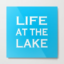 Life At The Lake - Summer Blue and White Metal Print