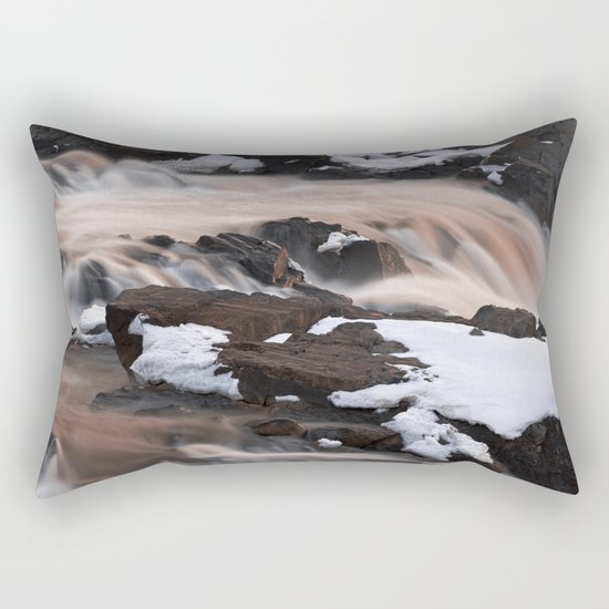 Ruby Winter Falls Rectangular Pillow
