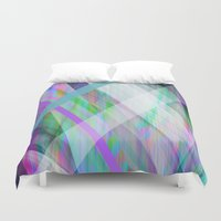 rave Duvet Covers featuring Crystal Rave by GS Designs