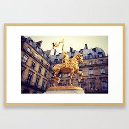 Joan of Arc Statue Paris Framed Art Print