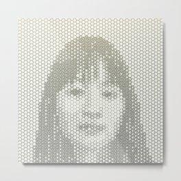 Tessellated Portraits - J.T. Metal Print
