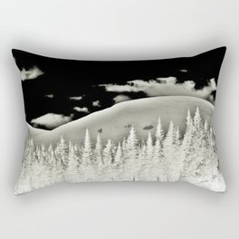 Abstract Dragon Clouds over Textured Mountain Forest Rectangular Pillow