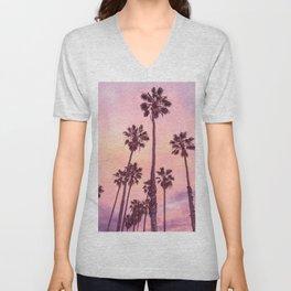 Palms to Pink World Unisex V-Neck