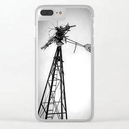 Twisted Windmill II Clear iPhone Case