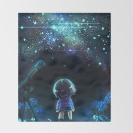 Starry (Night) Undertale Throw Blanket