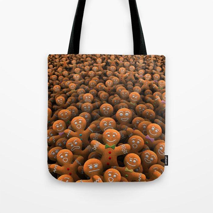 Gingerbread army Tote Bag