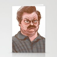 swanson Stationery Cards featuring Swanson by Hannah Joe