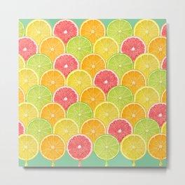pattern fruit Metal Print