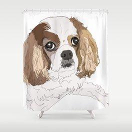 Harley the Blenheim Cavalier Shower Curtain
