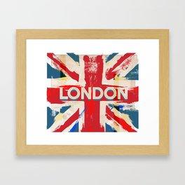 Vintage London Union Poster Framed Art Print