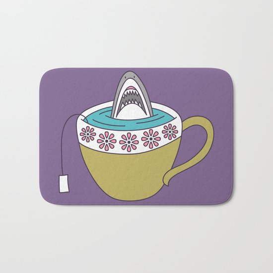 Shark in Tea Bath Mat