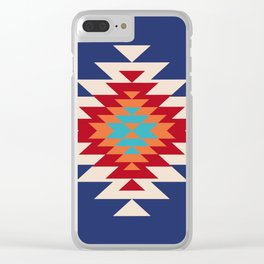Tribal Love in Blue Clear iPhone Case