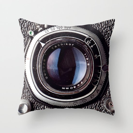 yashica Throw Pillow