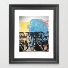 YAWNING TIGER Framed Art Print